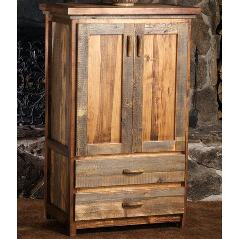 rustic tv armoire tall narrow armoire cabinet in cherry handmade custom