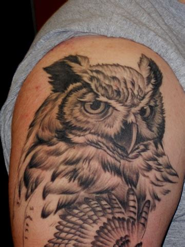 low lock tattoo studio ron meyers owl sleeve in progress