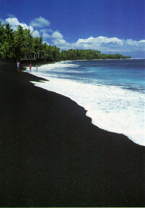 black sand beach the big island hi kakalina manas