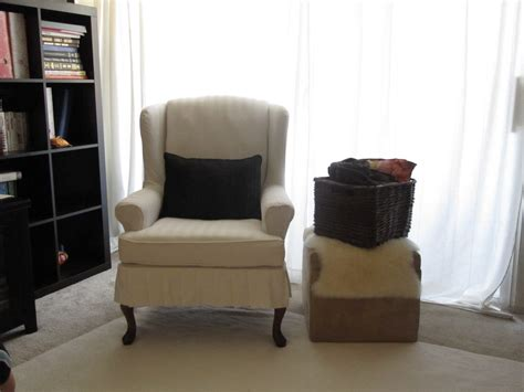 how to make a wing chair slipcover my wing chair slipcover reveal