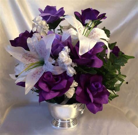 Purple Lavender Centerpiece Silk Wedding Flower Altar Purple Flower Arrangements Centerpieces
