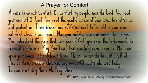 A Prayer For Comfort For Newtown Ct Bella Bleue Healing