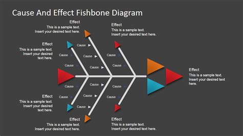 Cause And Effect Diagram Template Powerpoint Flat Fishbone Diagram For Powerpoint Slidemodel