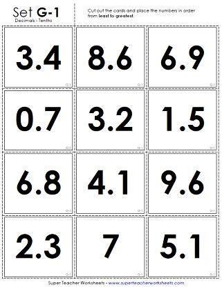 printable decimal number cards free worksheets 187 ordering whole numbers worksheets pdf