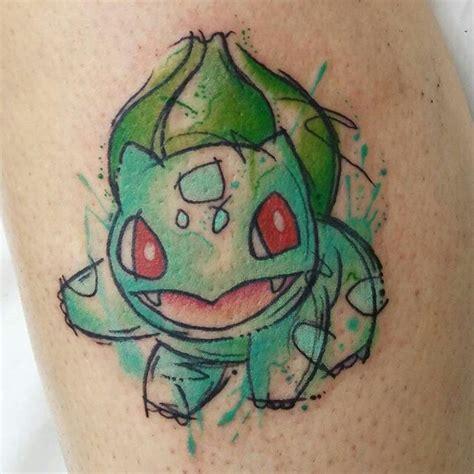bulbasaur tattoo bulbasaur watercolor ideas