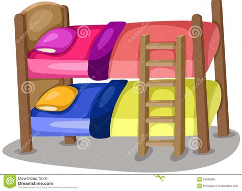 buck beds stock vector illustration  house cover