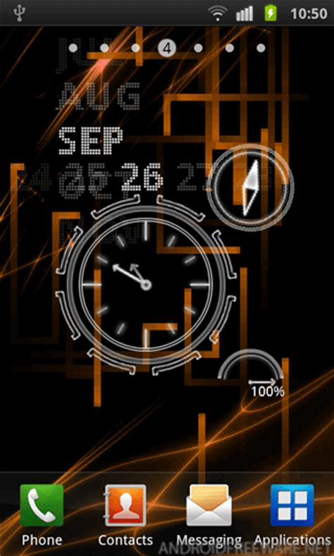 live clock themes for android neon clock live wallpaper free android app android freeware