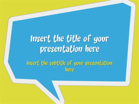 Speech Bubbles Free Template For Powerpoint And Impress Speech Powerpoint Template