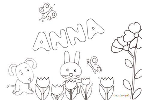 coloring pages of the name anna nome anna da colorare disegno da stare gratis