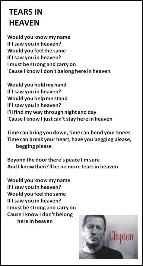 testo wonderful tonight best 25 tears in heaven ideas on eric clapton