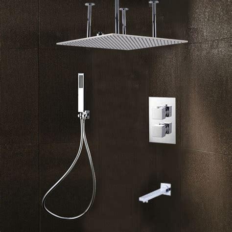 Bathroom Bidet Sprayer 20 Inch Brushed Nickel Ceiling Mount Rain Shower Head With