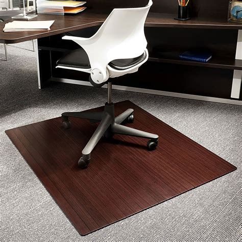 office chair mat bamboo office chair mat 42x48 inch in chair mats