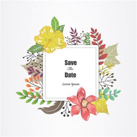 Wedding Album Border by Wedding Invitation With Flower Frame Free Vector