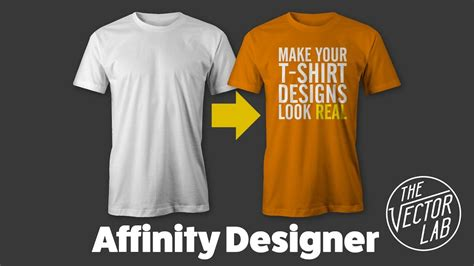 Tutorial Mock Up T Shirt Designs In Affinity Designer Affinity Photo With Thevectorlab Affinity Designer T Shirt Template
