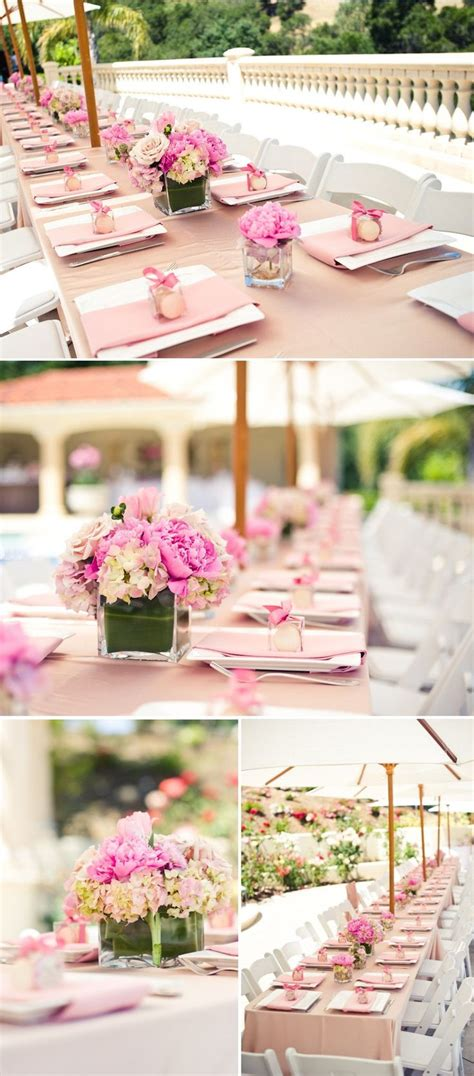 bridal shower table 25 best ideas about pink table settings on pinterest