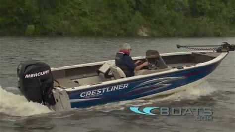 crestliner boats youtube crestliner 1750 fish hawk boat review performance test