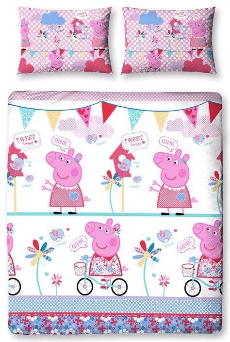 peppa pig tweet reversible double duvet quilt cover
