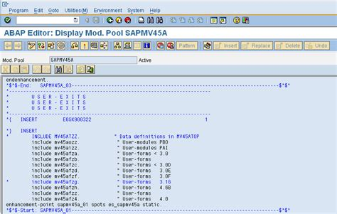 user exit tutorial sap abap locating sd user exit routines abap development scn wiki