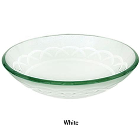 Glass Bowl Bathroom Sink by Decolav White Etched Glass Vessel Sink Bathroom Vanity