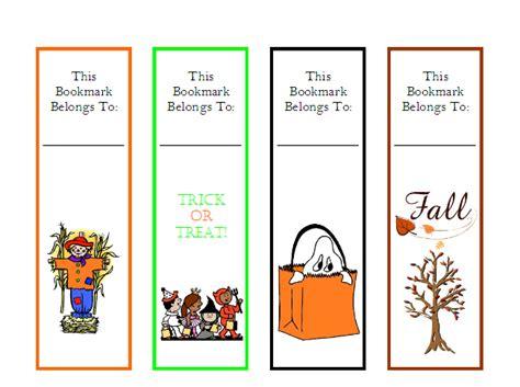 printable bookmarks fall classroom freebies fall halloween bookmarks