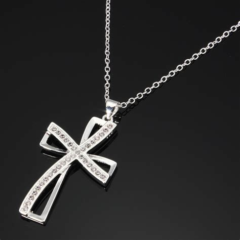 925 sterling silver cross necklace chain
