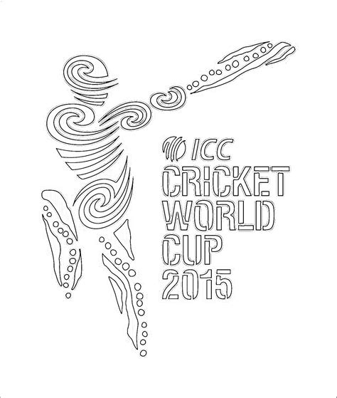 Cricket World Cup 2015 Logo Coloring Kids World Cup Coloring Pages