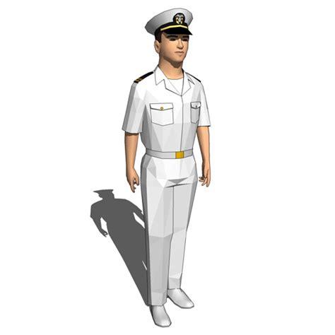 Navy Guys (Officers) 3D Model FormFonts 3D Models & Textures