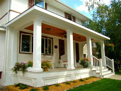 New Front Porch Designs a new front porch traditional porch minneapolis by home restoration services inc