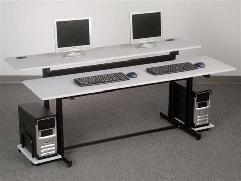 Balt Split Level Workstation 72 Desk by All Split Level Computer Table By Balt Options Computer
