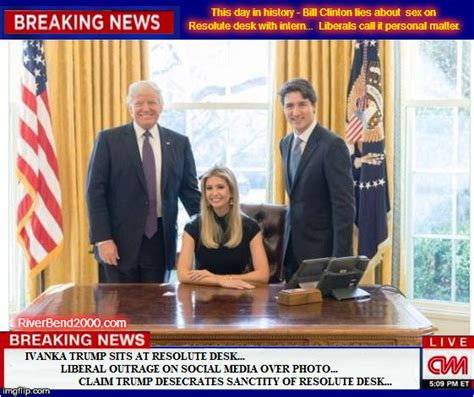 resolute desk trump liberals freak out over ivanka trump sitting at resolute