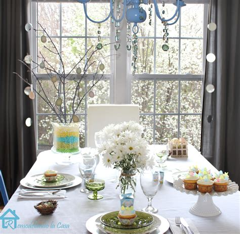 spring tablescapes remodelando la casa easter tablescape