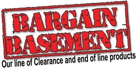Bargain Basement D 233 Finition What Is Bargain Basement Outlet