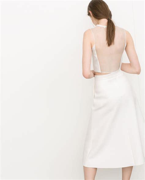 best zara popsugar fashion zara neoprene sheer back top 26 the 12 best things at zara right now popsugar fashion
