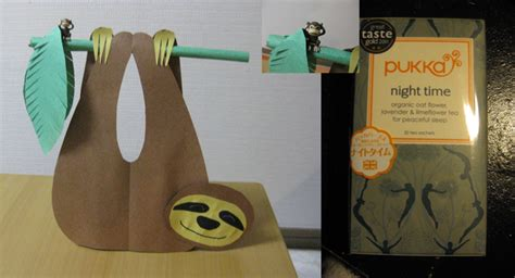 Origami Sloth - neko to meoto jungle baby shower