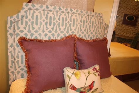 upholstered headboard styles diy fabric diy upholstered headboard with stenciled fabric
