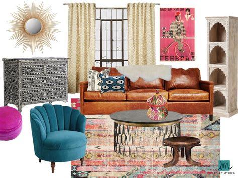 silverlake modern bohemian living room lesley myrick art