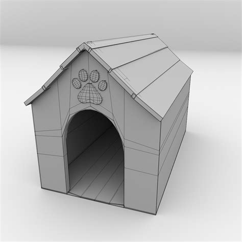 Dog House 3d Model 3ds Fbx Blend Dae Cgtrader Com