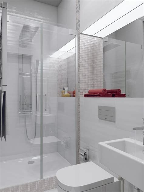 shower room sparkling white apartment with hideaway home offices