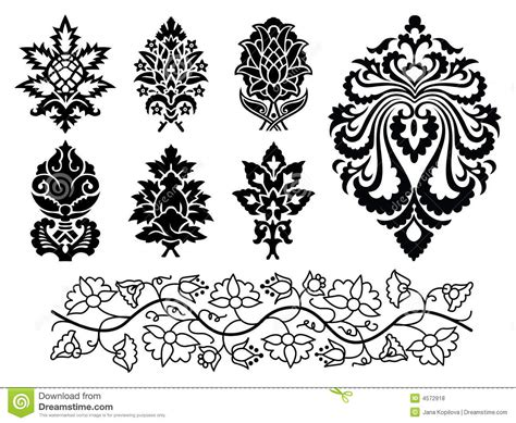 ornament design elements vector set vector floral ornament set royalty free stock photos