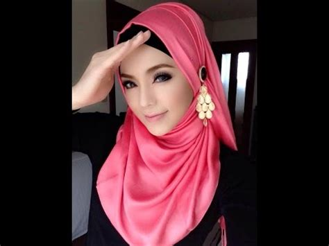 Pashmina Italiano Hq tutorial cara memakai jilbab pashmina modern yang simpl doovi
