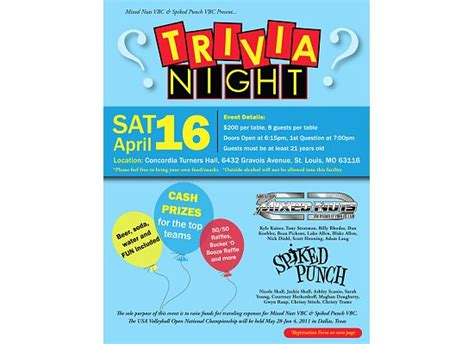 trivia night flyer template quotes