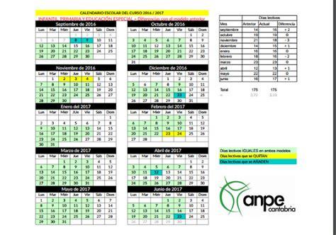colegio jes 250 s cancio calendario escolar de cantabria 2016