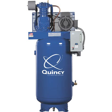 quincy qtv 7 5 splash lubricated reciprocating air compressor 7 5 hp 460 volt 3 phase 80