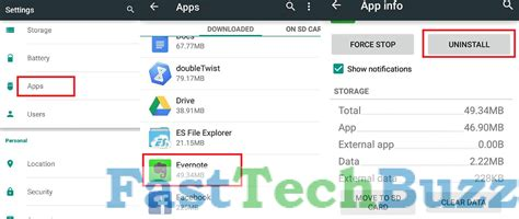uninstall app android increase memory in android phone tablets fount