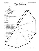teepee craft template paper teepee template tipi pattern indianen