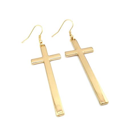 popular hanging cross earrings buy cheap hanging cross