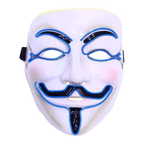 Light Mask by Led Fawkes Mask Anonymous Light Up Mask Emazinglights