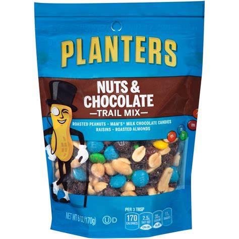 Planters Trail Mix by Planters Trail Mix Nut Chocolate 6 Oz 170 G