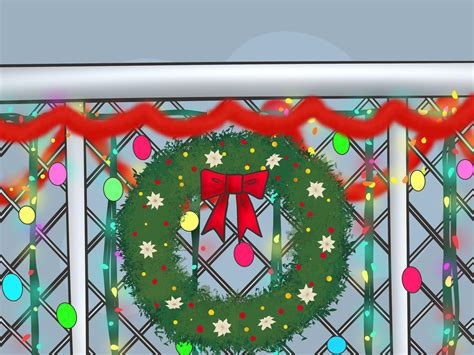 decor links how to decorate a chain link fence for christmas 6 steps