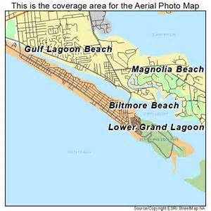 aerial photography map of lower grand lagoon fl florida